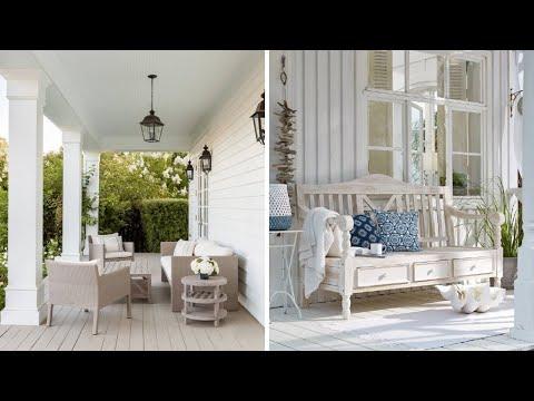 Красивая терраса в доме: 35 лучших вариантов белого цвета
