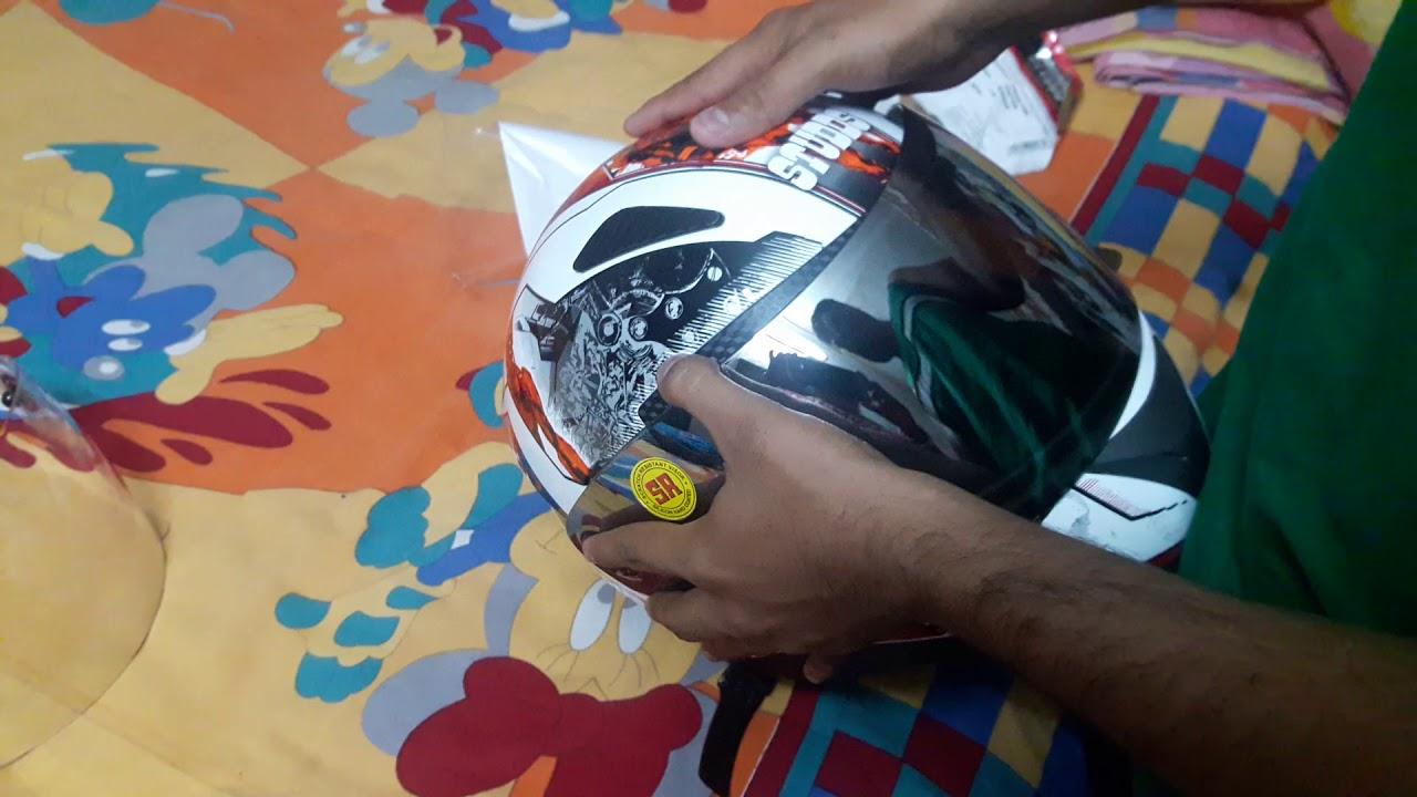 81ea621a After market orginal studds shifter mirror visor for my shifter helmet