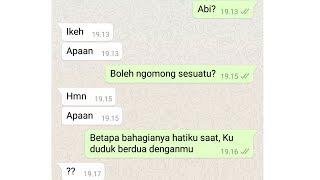 Prank Text Anak Ustadz pake lagu Akad - Payung Teduh cover by Hanin Dhiya