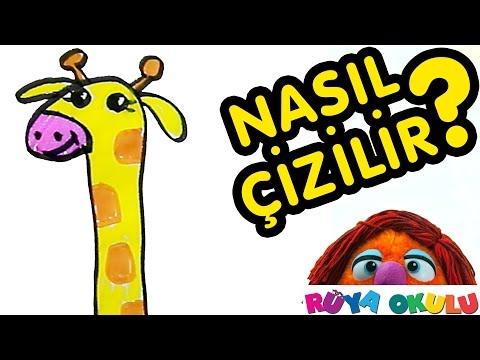 Nasıl Çizilir? - Zürafa - Çocuklar İçin Resim Çizme - RÜYA OKULU