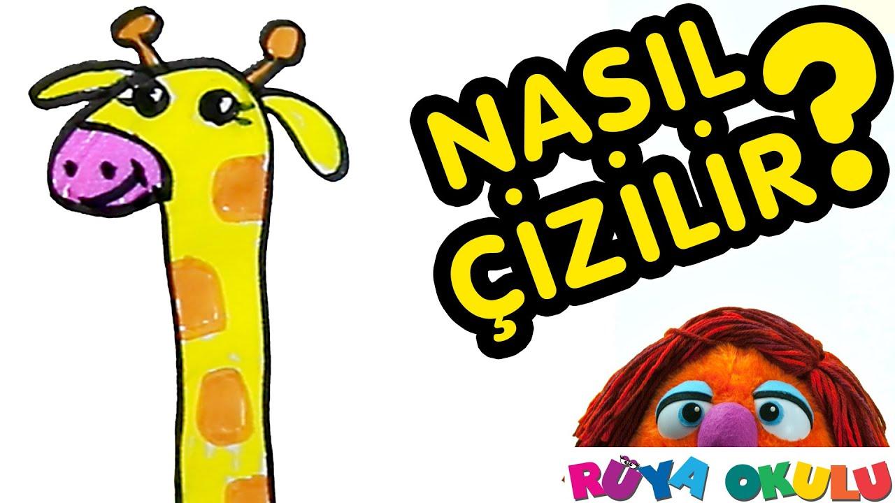 Nasıl çizilir Zürafa çocuklar Için Resim çizme Rüya Okulu