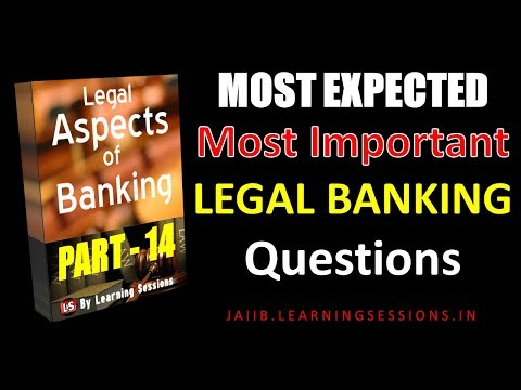 Legal and Regulatory aspects of Banking Most Expected Questions || JAIIB Study Material