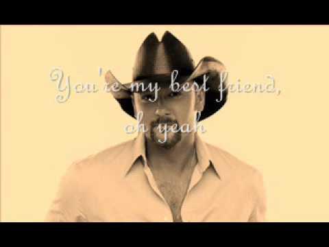 Tim McGraw - My Bestfriend (Lyrics)