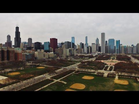 Grant Park Chicago Drone