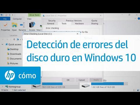 Detección de errores del disco duro en Windows 10 | HP Computers | HP