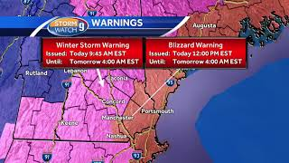 Watch: Blizzard warning area expanded