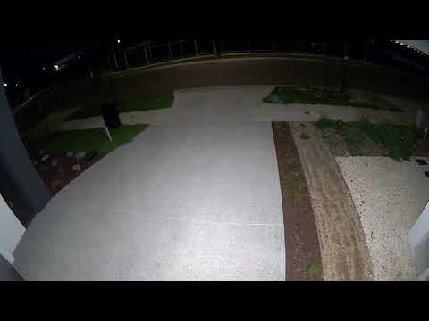 Swann Floodlight Security Camera Night Sample Clip (1080p)