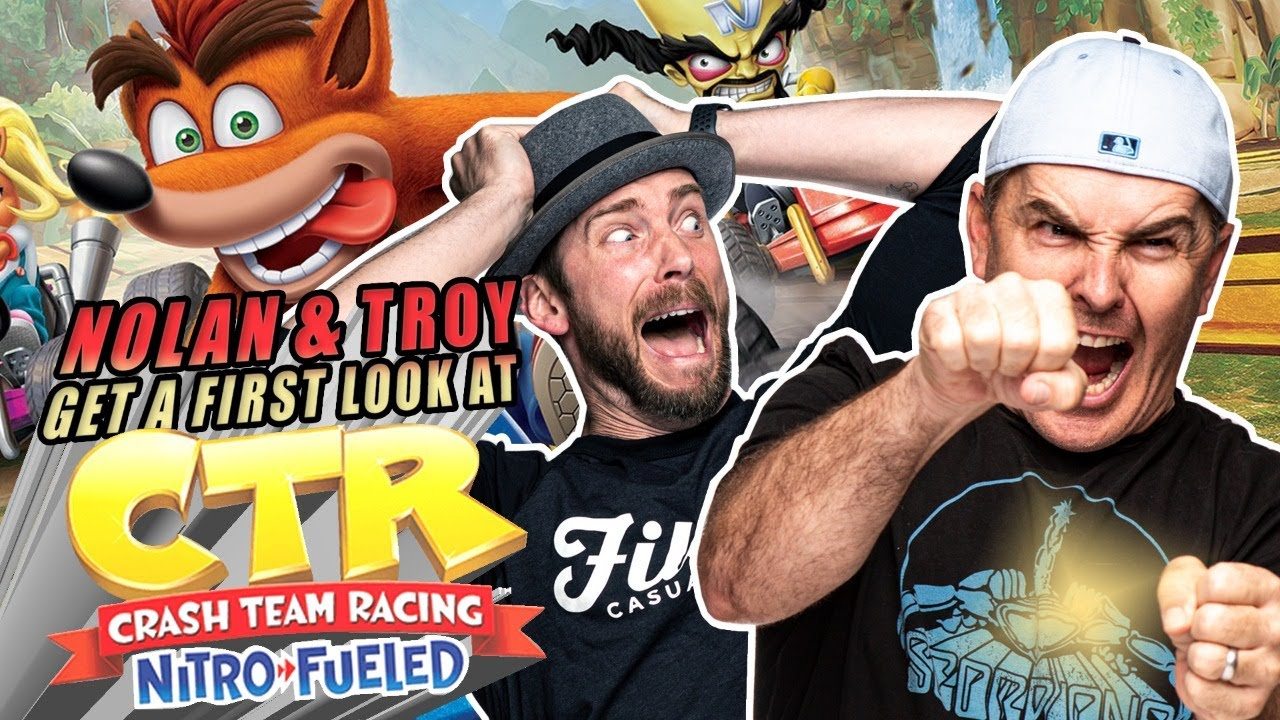 Nolan North & Troy Baker Take Play Crash Team Racing Nitro-Fueled