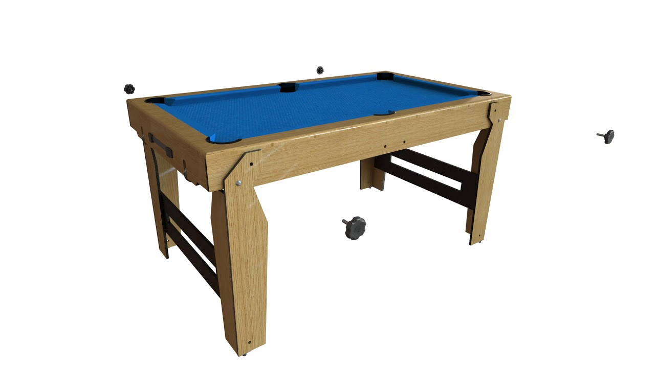 BCE Rolling Lay Flat Pool Table BLF YouTube - Rolling pool table
