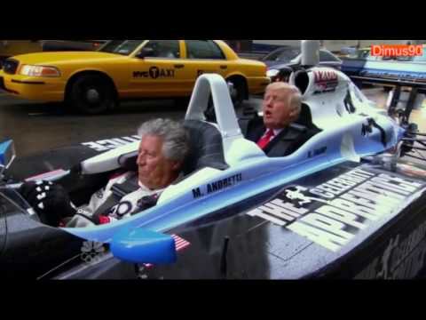 Mario Andretti gives Trump a ride to the White House