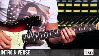 Superstition (Stevie Wonder) - Guitar Tutorial by Matt Bidoglia