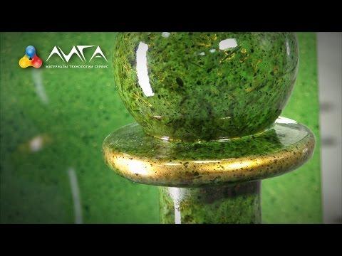 видео: 84. Элитная мраморная столешница с золотом из простого МДФ