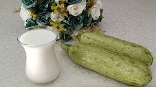 2 zucchini and 1 glass of milk make this healthy, easy and delicious recipe!