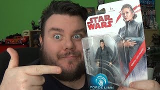 General Leia Organa Star Wars Last Jedi Force Link 3.75 Action Figure Toy Review