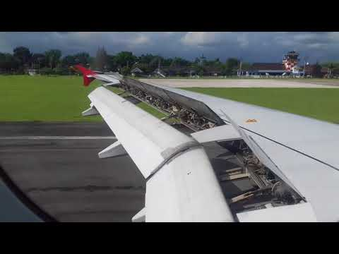Air asia lending at (JOG) Indonesia দেখুন বিমান যেভাবে নামে ইন্দোনেশিয়া এয়ারপোর্ট
