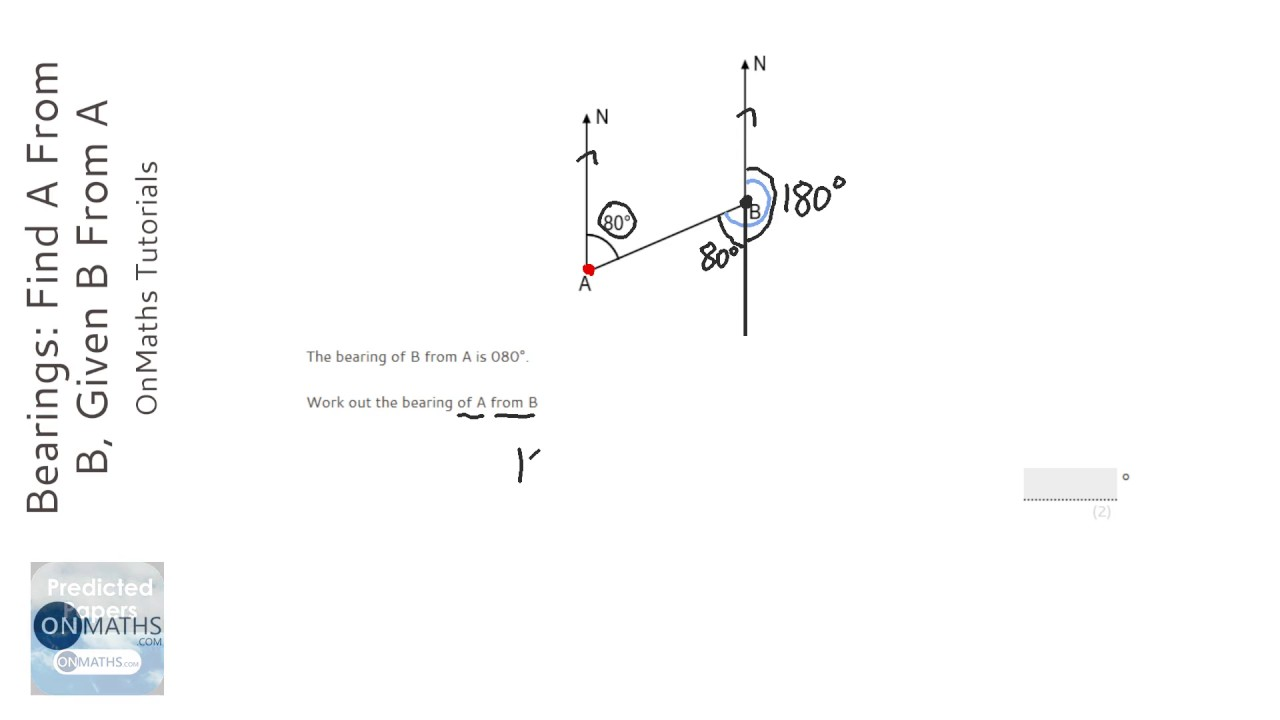 Bearings: Find A From B, Given B From A (Grade 3
