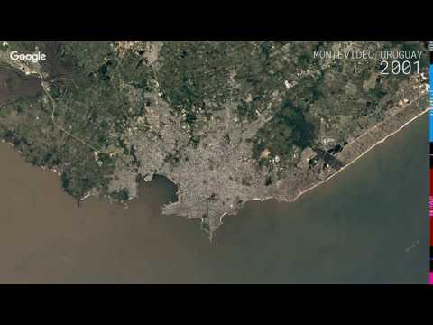 Google Timelapse: Montevideo, Uruguay