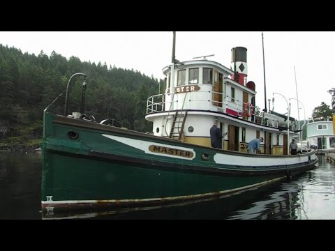 SS Master Steam Tugboat Maple Bay Vancouver Island Canada