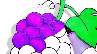 How To Draw & Learn Fruit Names, Coloring Fruits For Children Toddlers