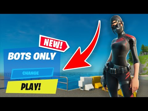 How To Get On Bot Lobbies In Fortnite! (BEST FORTNITE GLITCH EVER!)