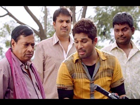 MS Narayana describing Allu Arjun's Character | Race Gurram Movie Comedy Scenes