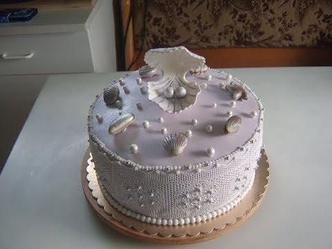 Торт на жемчужную свадьбу. Часть 2.