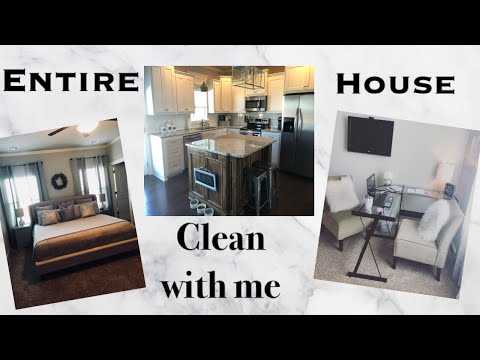 CLEAN WITH ME    ENTIRE HOUSE   SPEED CLEAN
