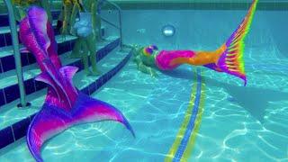 mermaid melissa pink barbie birthday kids pool party