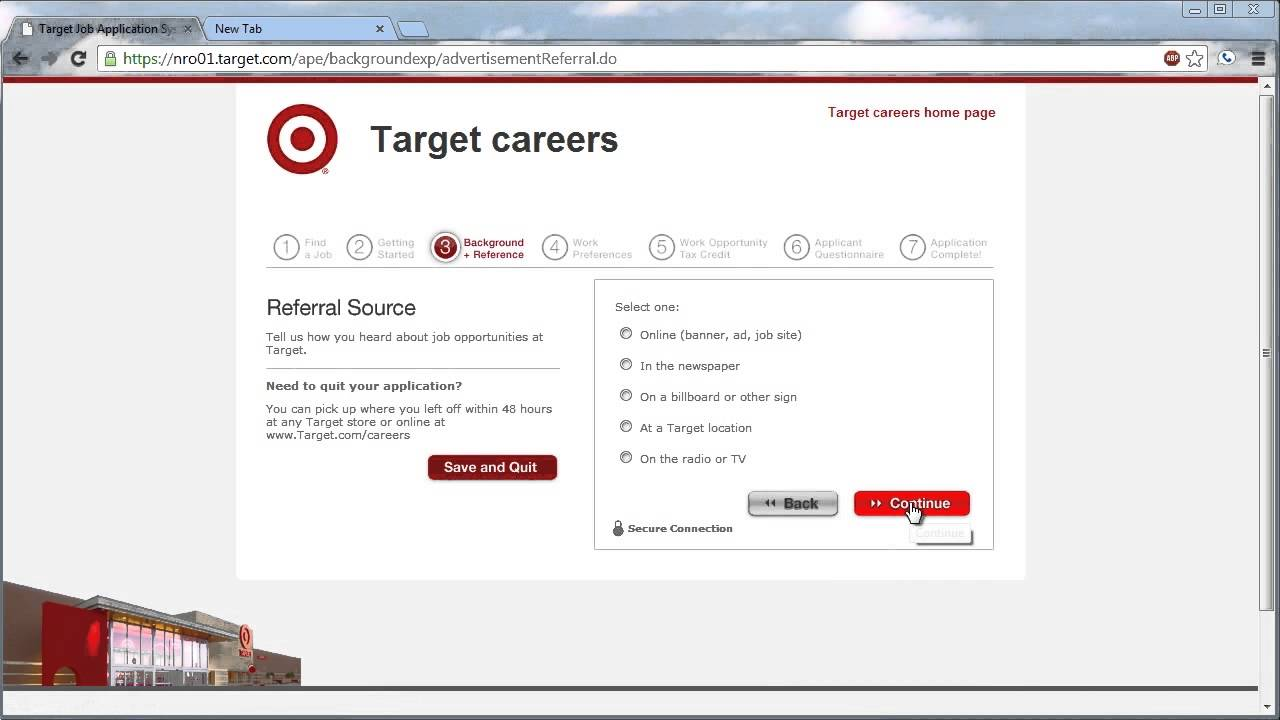 Target Application Online Video YouTube – Target Application Form