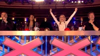 Even 4 Red Buzzers Can't Stop Him From Performing | Audition 5 | Britain's Got Talent 2017
