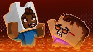 Gmod Death Run Funny Moments - Minecraft! Lava Jump Fail! (Funny Moments)