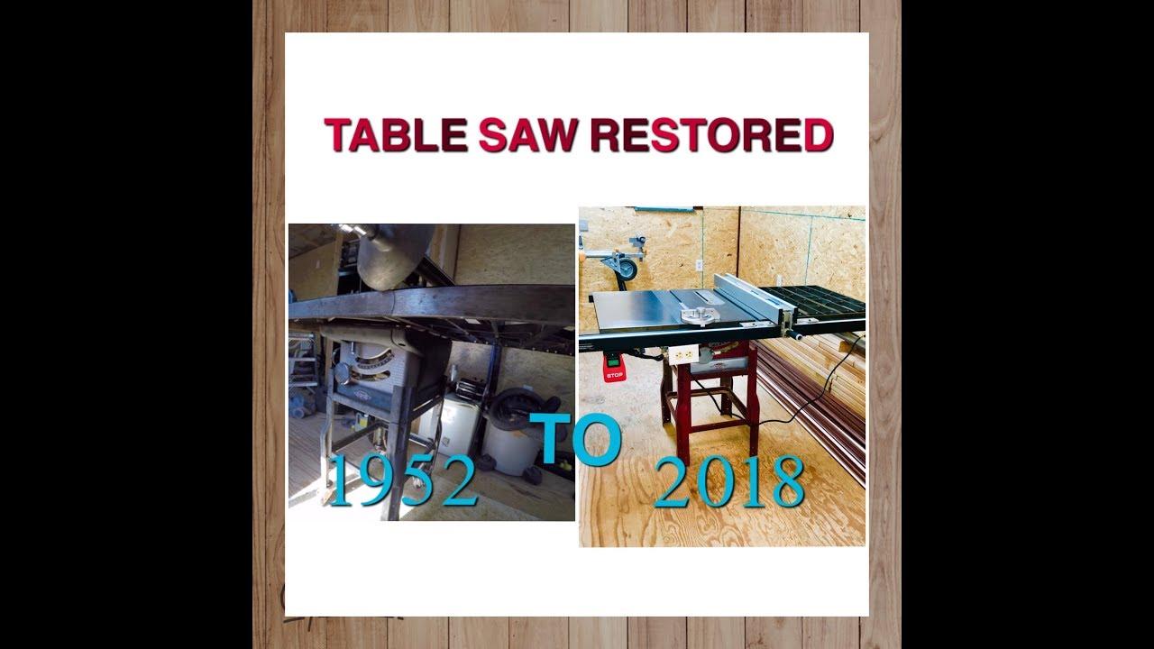 1952 VINTAGE CRAFTSMAN TABLE SAW RESTORED!