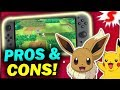 5 MAJOR Pros & Cons of Pokemon Let's Go Pikachu & Eevee - New Pokemon Switch Game Breakdown