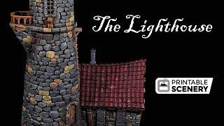 Printable Scenery Lighthouse by Lester Bursley