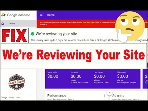 Google Adsense Fix We are reviewing your site adsense approval