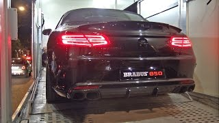 BRABUS 850 6.0 BiTurbo V8 S63 AMG Cabriolet - Start up, Revs!