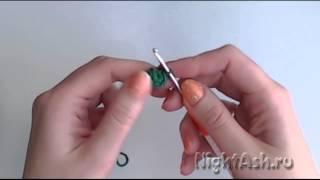 Кольцо амигуруми и начало вязки круга крючком