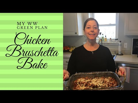 my-ww-green-plan:-meal-prep-|-chicken-bruschetta-bake