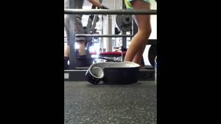 Girlfriend squatting 135