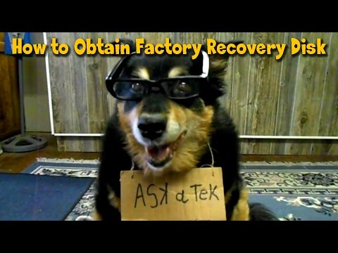 How To Obtain Factory Recovery Restore Disk - Ask A Tech #1