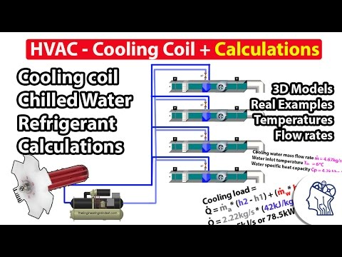 HVAC - Cooling coil + Calculations ❄️❄️❄️