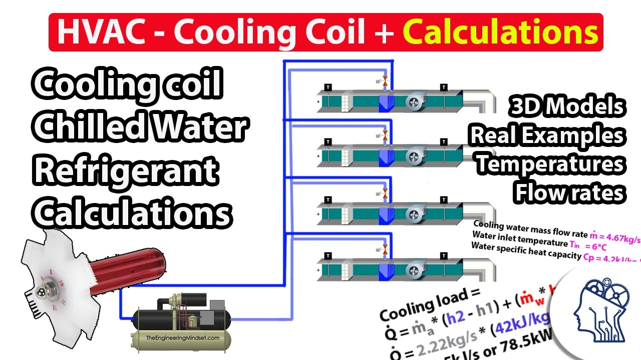 hvac cooling coil calculations  [ 1280 x 720 Pixel ]