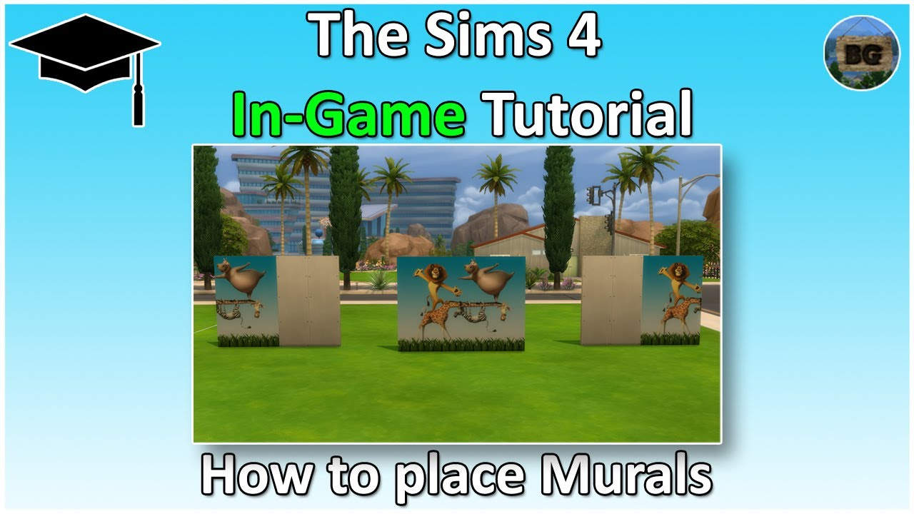 The Sims 4 Tutorial How To Place Multiple Tile Wallpapers Murals