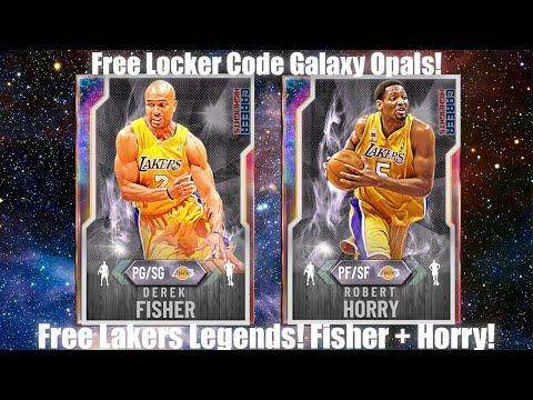 Free Locker Code Galaxy Opals! This Dynamic Duo Is INSANE! Derek Fisher + Horry! (NBA 2K20 MYTEAM)