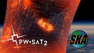 PW-Sat2 - animacja deorbitacji satelity (2017)