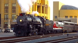 Santa Fe 3751 Steam Engine at Union Station in 4K Quality