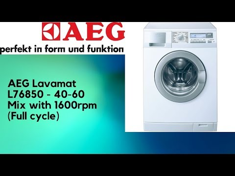Washing Coloured Clothes On The 40 60 Mix Program At 40c And 1600rpm In AEG Lavamat L76850 This Is Suitable For That Can Be Washed