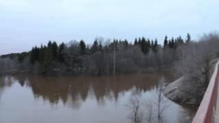 Наводнение в Дубне 2013. Савеловский мост.