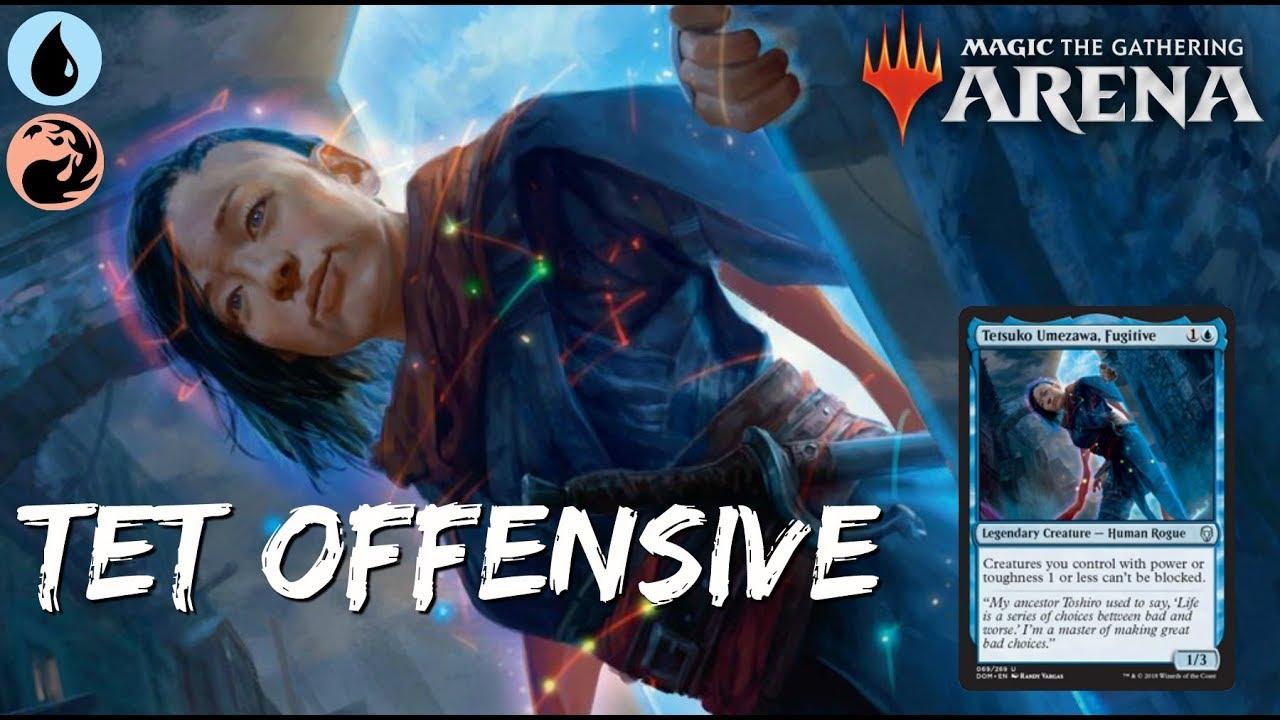 Tet Offensive [MTG Arena] | Red-Blue Tetsuko Deck in M19 Standard