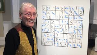 Sudoku tutorial #69. Amazing puzzle with lots to learn with a breakthrough point.